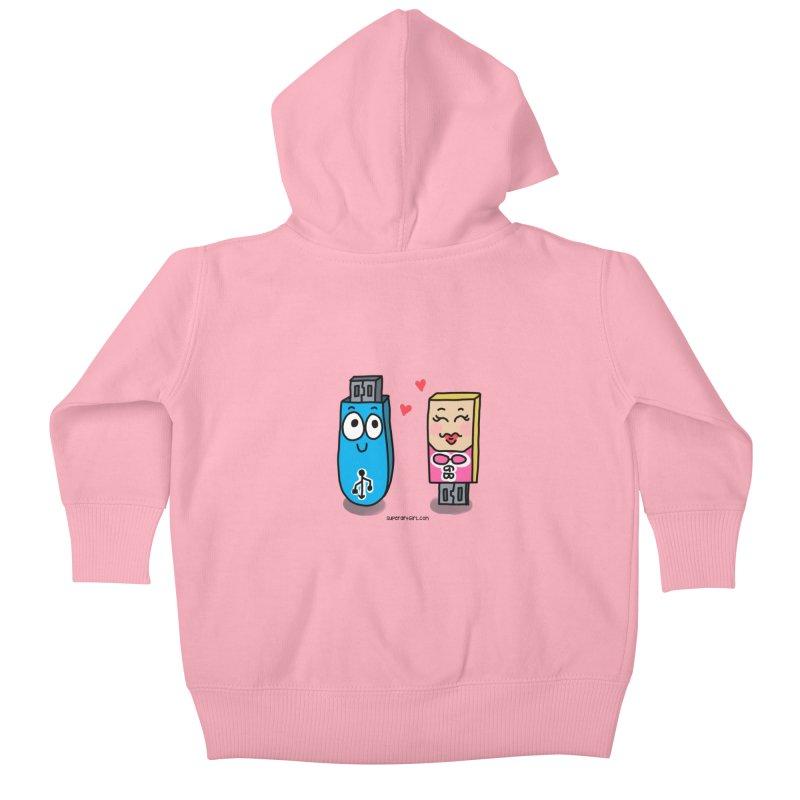 U-SB In Love Kids Baby Zip-Up Hoody by superartgirl's Artist Shop