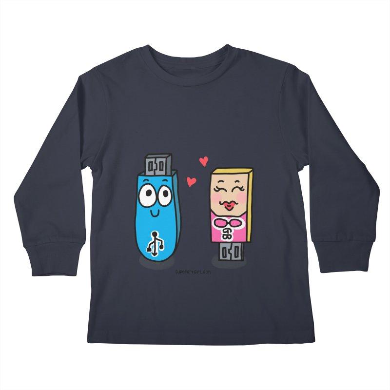 U-SB In Love Kids Longsleeve T-Shirt by superartgirl's Artist Shop