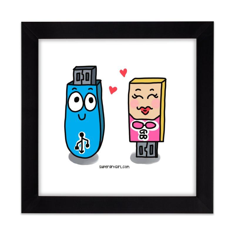 U-SB In Love Home Framed Fine Art Print by superartgirl's Artist Shop