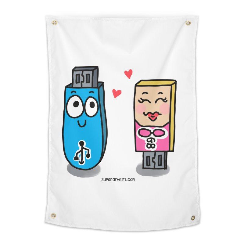 U-SB In Love Home Tapestry by superartgirl's Artist Shop