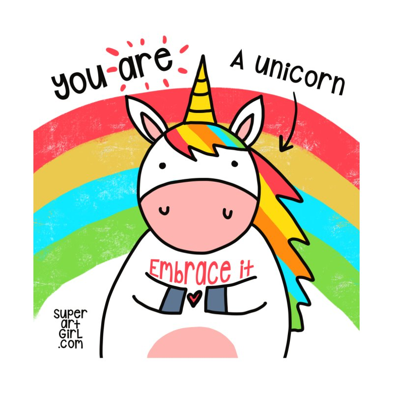 You Are a Unicorn Home Framed Fine Art Print by superartgirl's Artist Shop