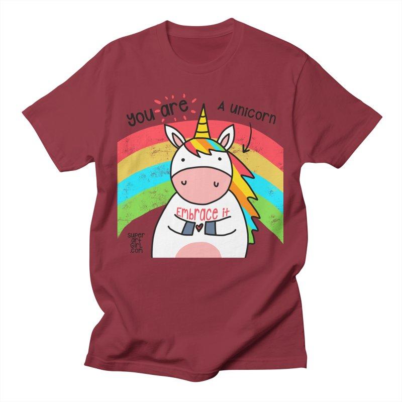 You Are a Unicorn Men's T-Shirt by superartgirl's Artist Shop