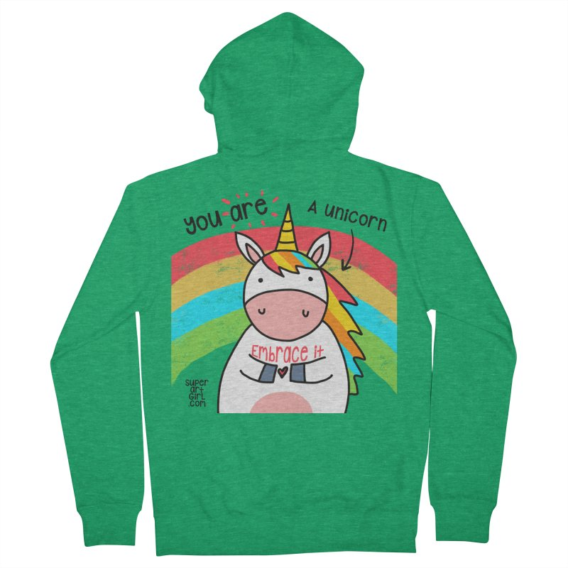 You Are a Unicorn Men's Zip-Up Hoody by superartgirl's Artist Shop