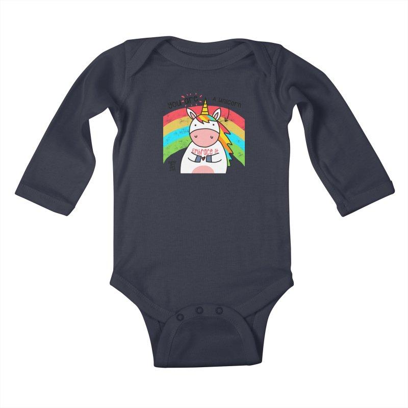 You Are a Unicorn Kids Baby Longsleeve Bodysuit by superartgirl's Artist Shop
