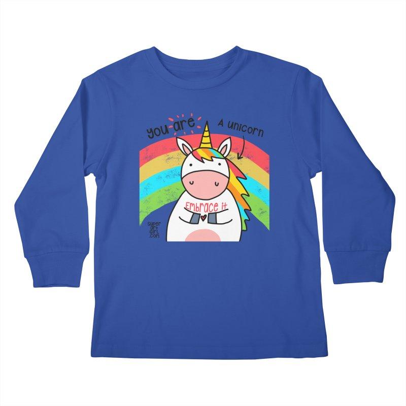 You Are a Unicorn Kids Longsleeve T-Shirt by superartgirl's Artist Shop