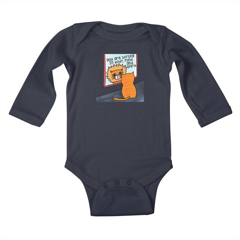 Strong Kids Baby Longsleeve Bodysuit by superartgirl's Artist Shop