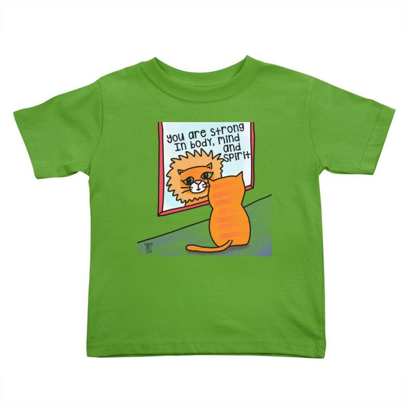 Strong Kids Toddler T-Shirt by superartgirl's Artist Shop