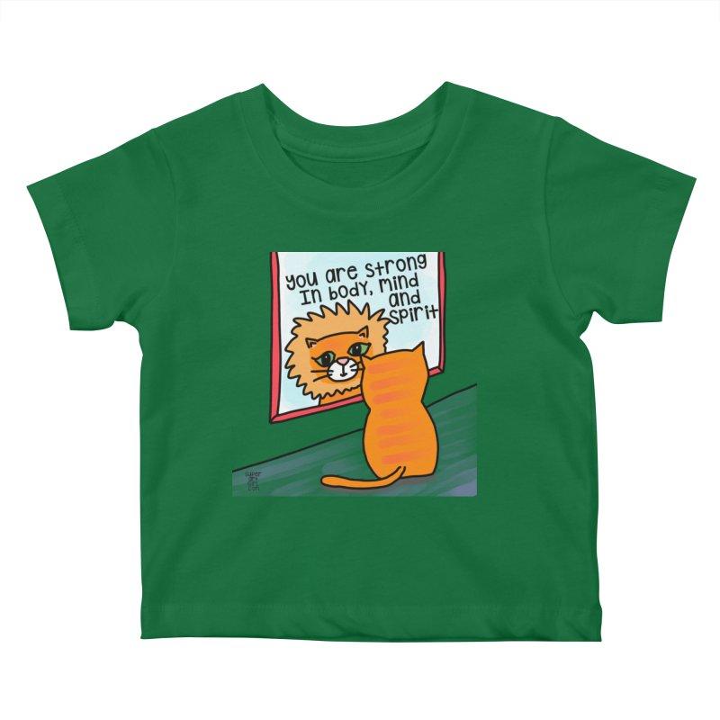 Strong Kids Baby T-Shirt by superartgirl's Artist Shop