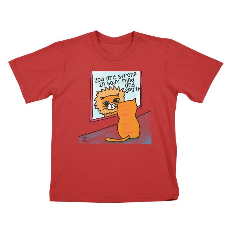 Strong Kids T-Shirt by superartgirl's Artist Shop