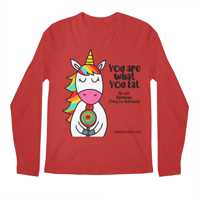 You Are What You Eat Men's Longsleeve T-Shirt by superartgirl's Artist Shop