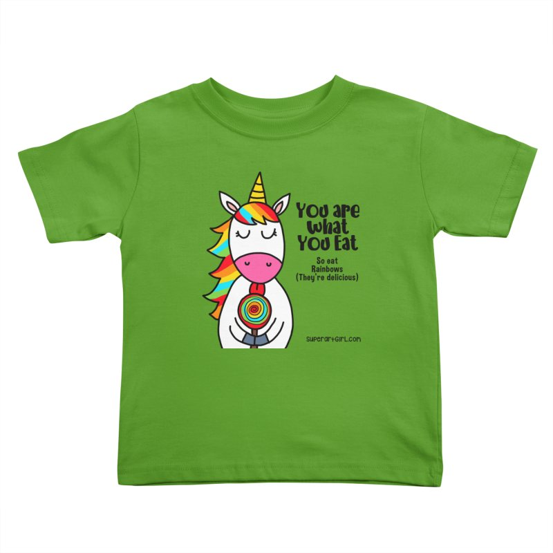 You Are What You Eat Kids Toddler T-Shirt by superartgirl's Artist Shop