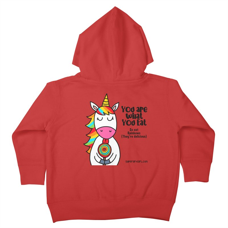You Are What You Eat Kids Toddler Zip-Up Hoody by superartgirl's Artist Shop