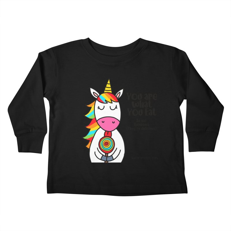 You Are What You Eat Kids Toddler Longsleeve T-Shirt by superartgirl's Artist Shop