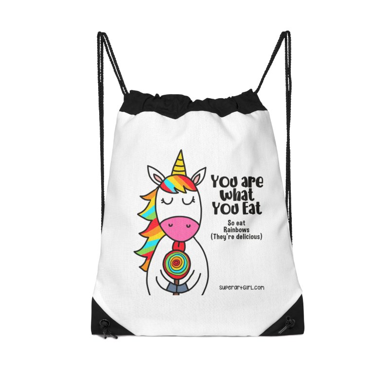 You Are What You Eat Accessories Bag by superartgirl's Artist Shop