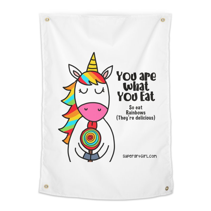 You Are What You Eat Home Tapestry by superartgirl's Artist Shop