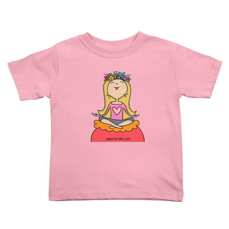 Zen Girl Kids Toddler T-Shirt by superartgirl's Artist Shop