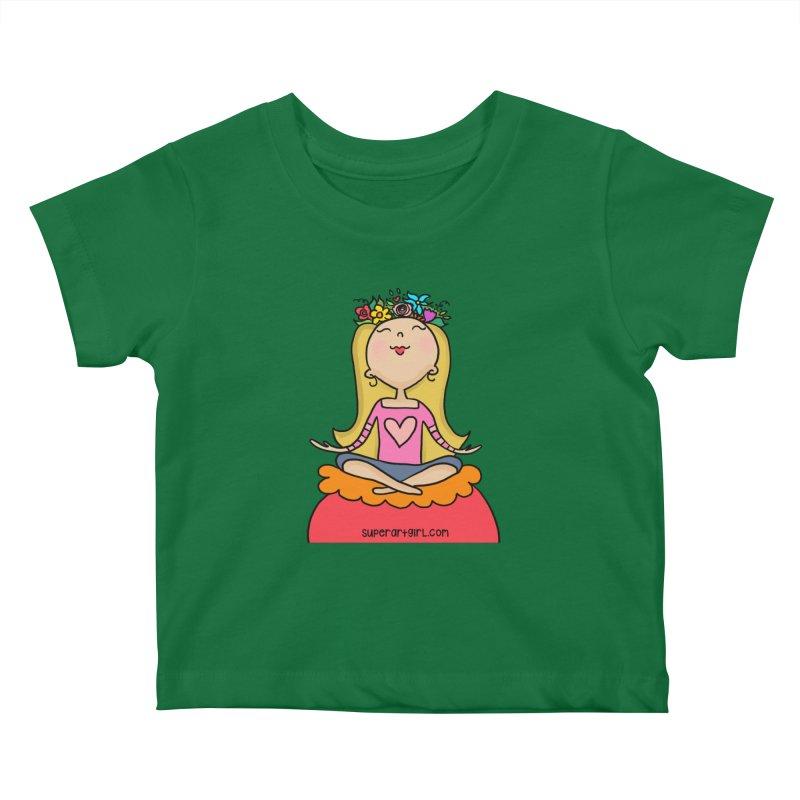 Zen Girl Kids Baby T-Shirt by superartgirl's Artist Shop