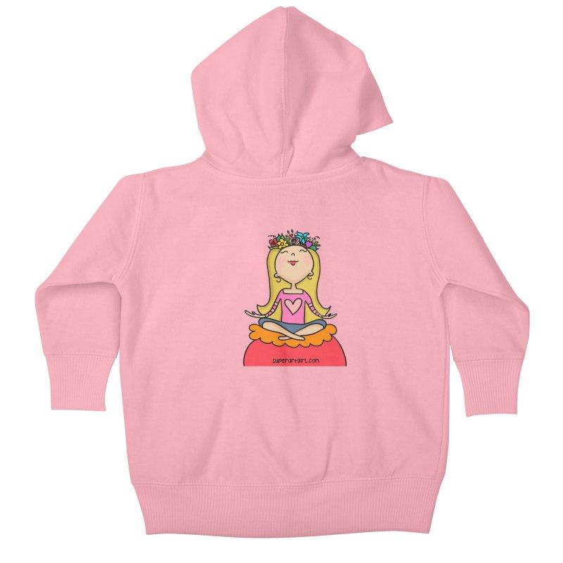 Zen Girl Kids Baby Zip-Up Hoody by superartgirl's Artist Shop