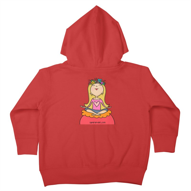 Zen Girl Kids Toddler Zip-Up Hoody by superartgirl's Artist Shop
