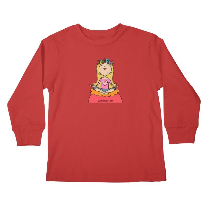 Zen Girl Kids Longsleeve T-Shirt by superartgirl's Artist Shop
