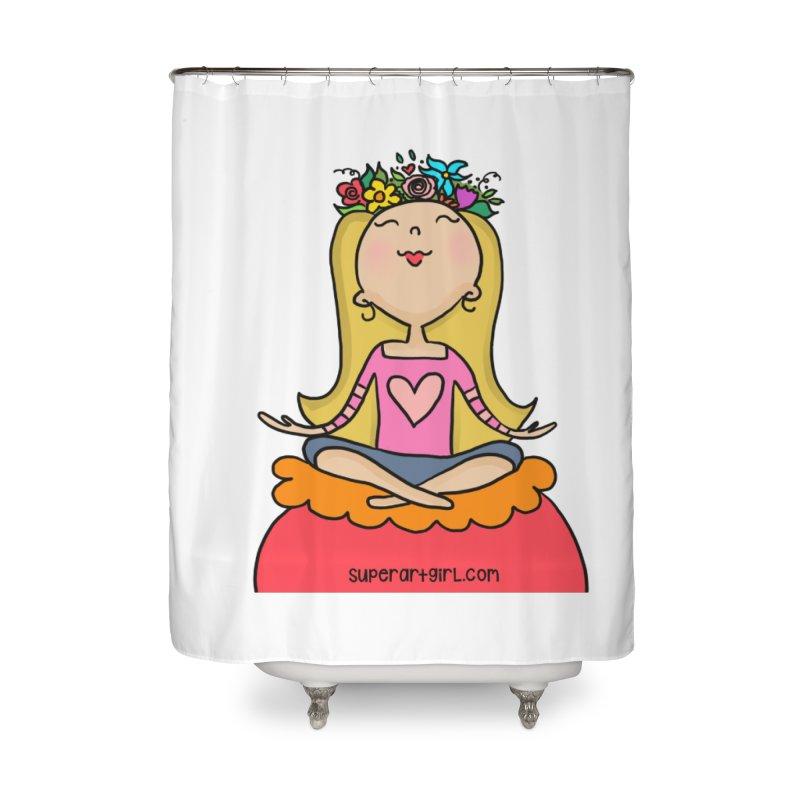 Zen Girl Home Shower Curtain by superartgirl's Artist Shop