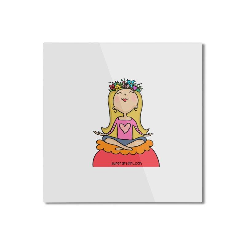 Zen Girl Home Mounted Aluminum Print by superartgirl's Artist Shop