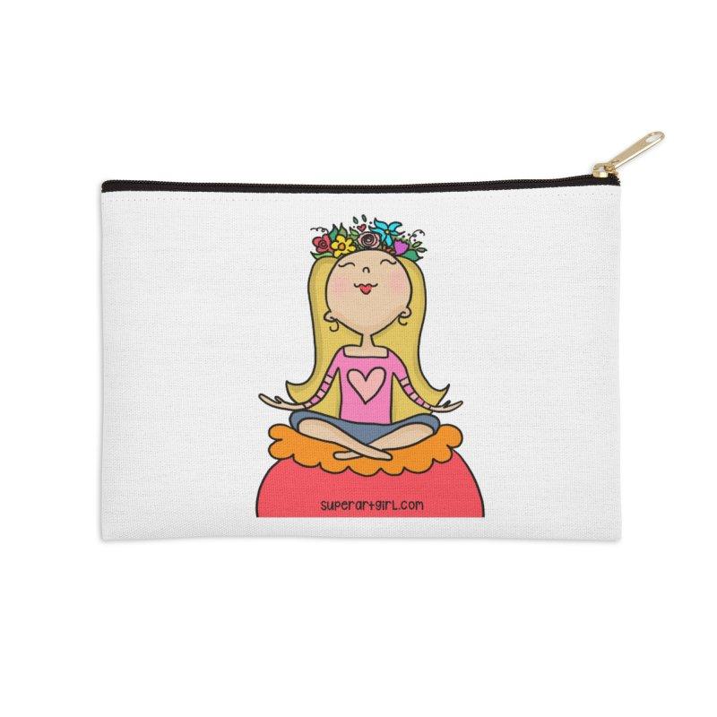 Zen Girl Accessories Zip Pouch by superartgirl's Artist Shop