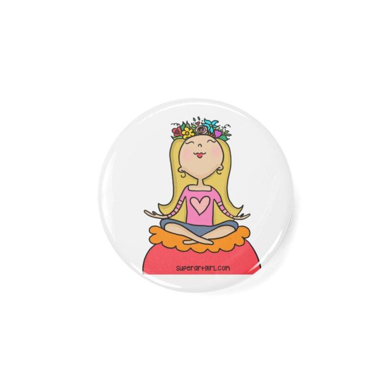 Zen Girl Accessories Button by superartgirl's Artist Shop
