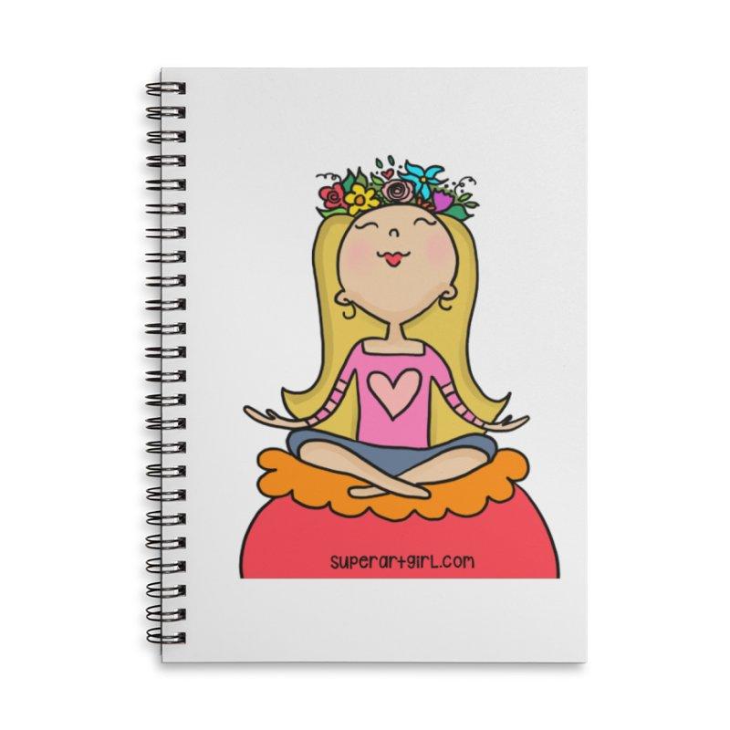 Zen Girl Accessories Notebook by superartgirl's Artist Shop