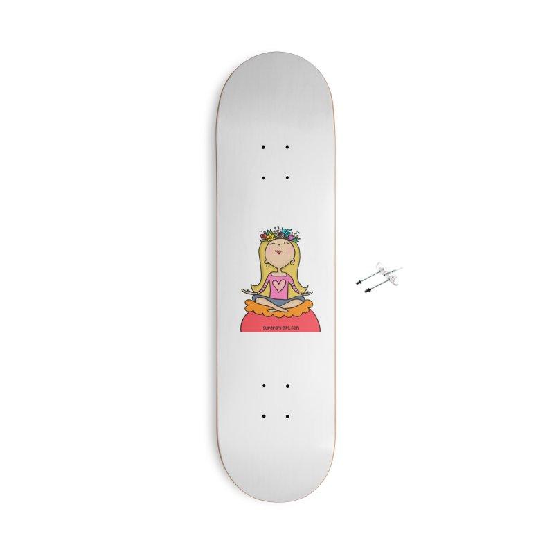 Zen Girl Accessories Skateboard by superartgirl's Artist Shop
