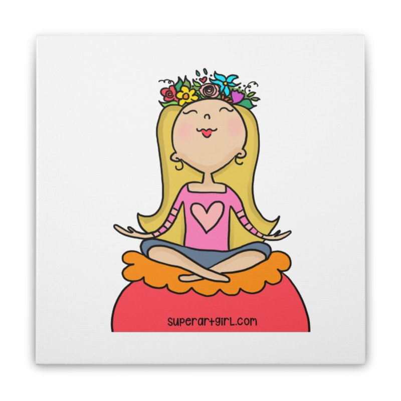 Zen Girl Home Stretched Canvas by superartgirl's Artist Shop