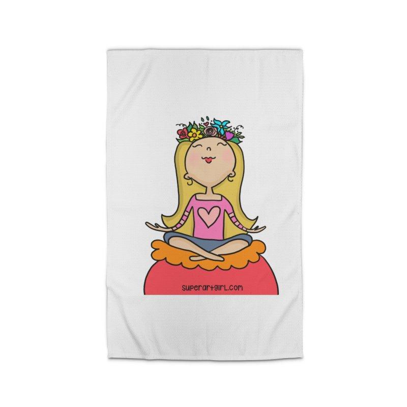 Zen Girl Home Rug by superartgirl's Artist Shop