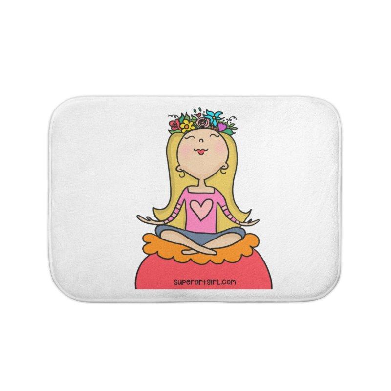 Zen Girl Home Bath Mat by superartgirl's Artist Shop