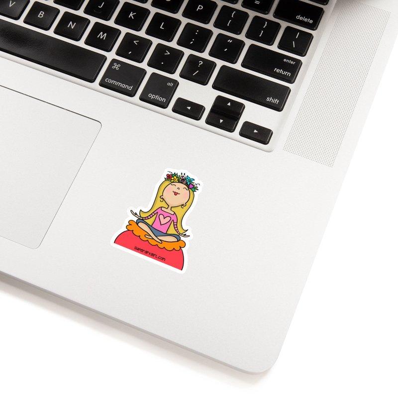 Zen Girl Accessories Sticker by superartgirl's Artist Shop