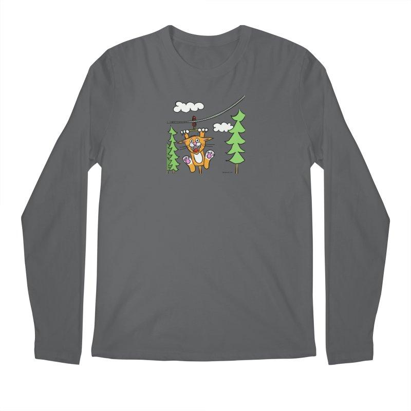 Zip line Men's Longsleeve T-Shirt by superartgirl's Artist Shop