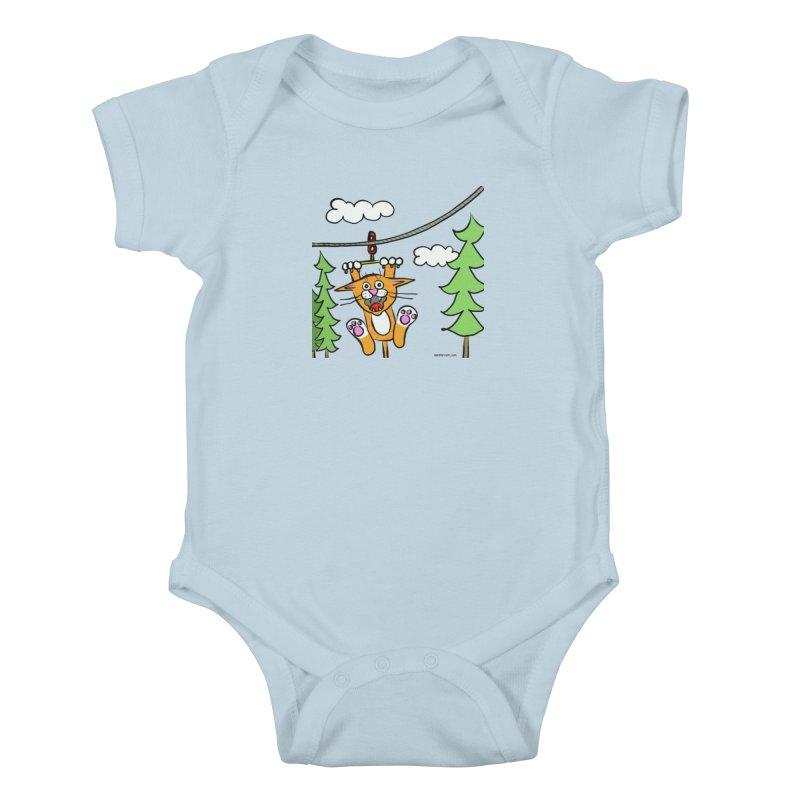 Zip line Kids Baby Bodysuit by superartgirl's Artist Shop