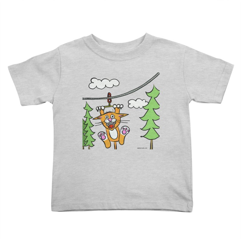 Zip line Kids Toddler T-Shirt by superartgirl's Artist Shop