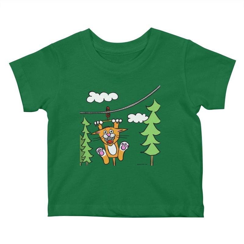 Zip line Kids Baby T-Shirt by superartgirl's Artist Shop