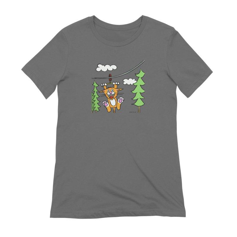 Zip line Women's T-Shirt by superartgirl's Artist Shop