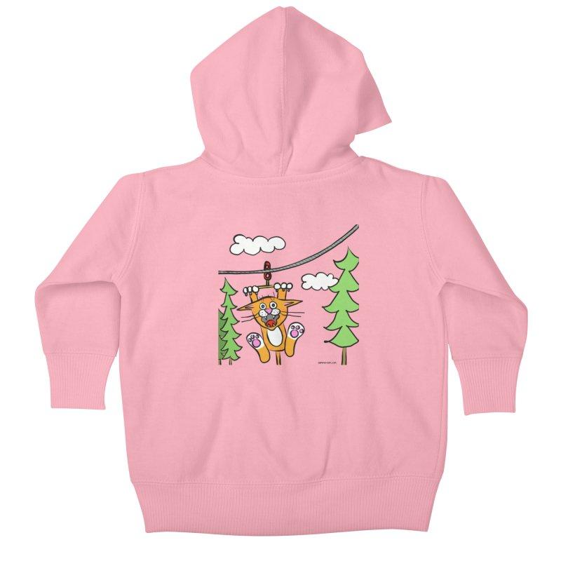 Zip line Kids Baby Zip-Up Hoody by superartgirl's Artist Shop