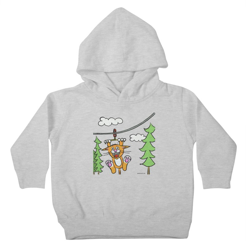 Zip line Kids Toddler Pullover Hoody by superartgirl's Artist Shop