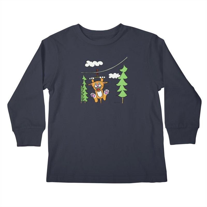 Zip line Kids Longsleeve T-Shirt by superartgirl's Artist Shop