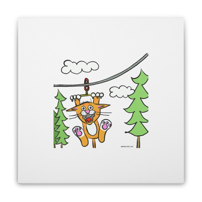 Zip line Home Stretched Canvas by superartgirl's Artist Shop