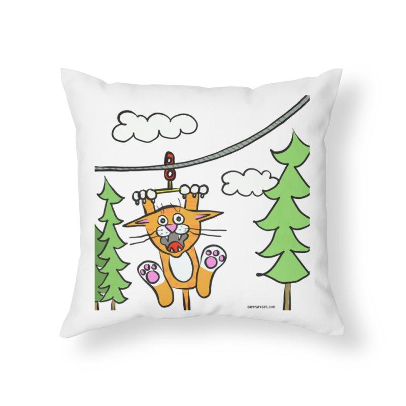 Zip line Home Throw Pillow by superartgirl's Artist Shop
