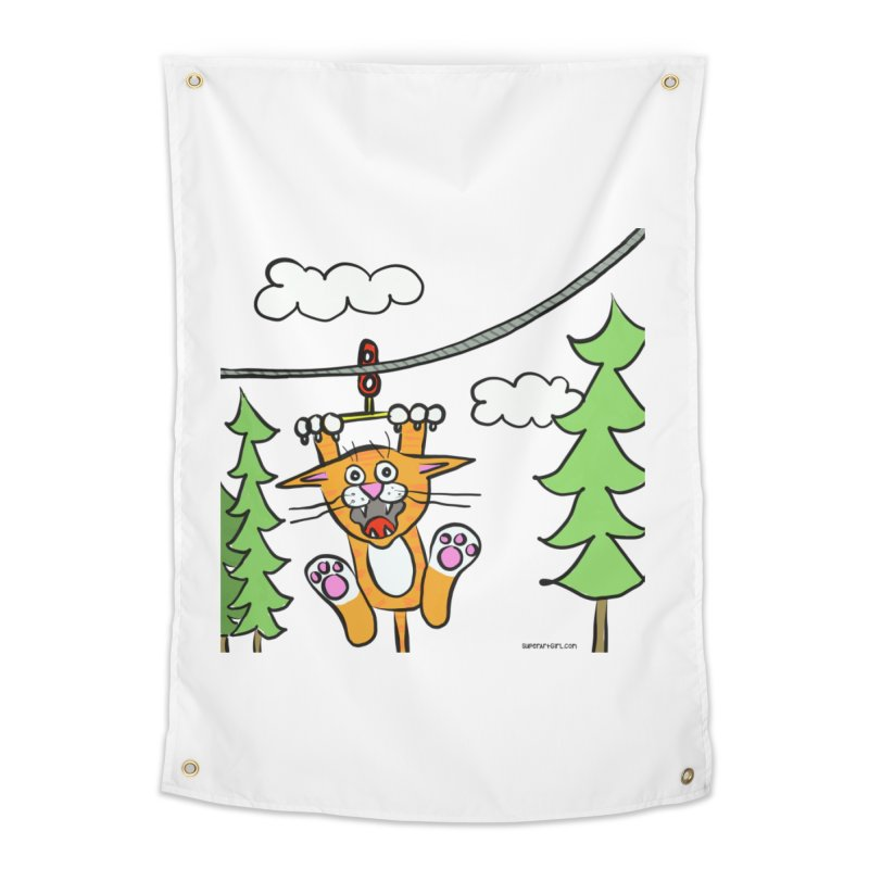 Zip line Home Tapestry by superartgirl's Artist Shop