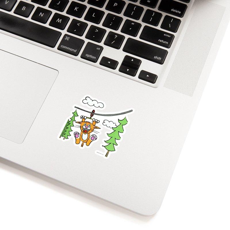 Zip line Accessories Sticker by superartgirl's Artist Shop