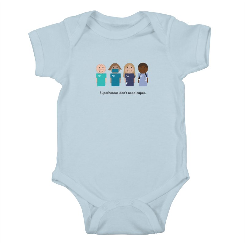 Superdocs in Kids Baby Bodysuit Baby Blue by Super Designer's Artist Shop