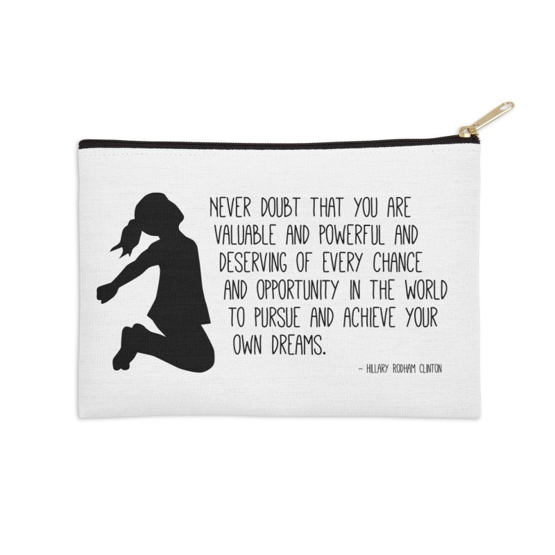 Never Doubt in Zip Pouch by Super Designer's Artist Shop