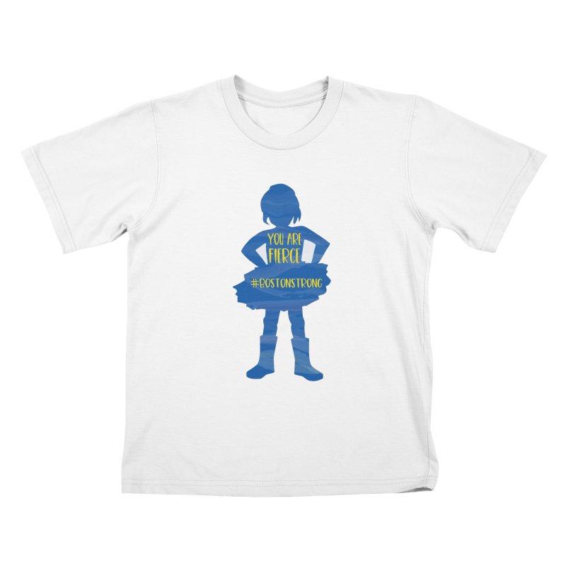 Fierce Boston Strong Girl Kids T-Shirt by Super Designer's Artist Shop
