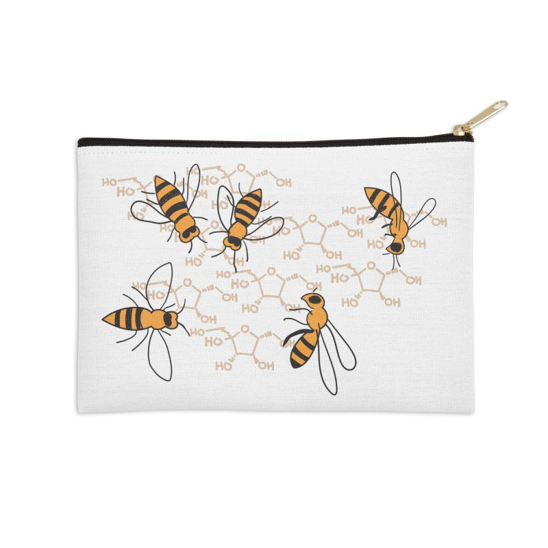 Honey Bees in Zip Pouch by Super Designer's Artist Shop